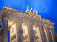 Brandenburger Tor in Berlin beleuchtet